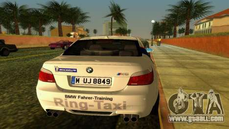BMW M5 (E60) 2009 Nurburgring Ring Taxi for GTA Vice City back view
