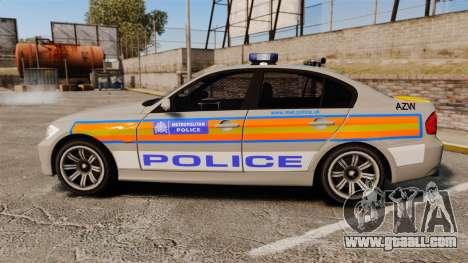 BMW 330 Metropolitan Police [ELS] for GTA 4 left view