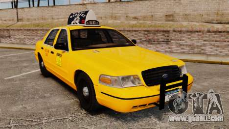 Ford Crown Victoria 1999 NY Old Taxi Design for GTA 4