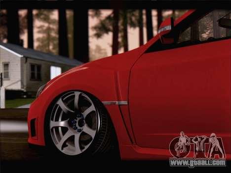 Subaru Impreza WRX STi for GTA San Andreas side view
