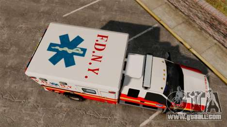 Ford F-350 2013 FDNY Ambulance [ELS] for GTA 4 right view