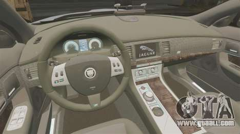 Jaguar XFR 2010 Police Unmarked [ELS] for GTA 4 inner view