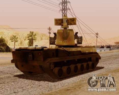 2S6 Tunguska for GTA San Andreas back view