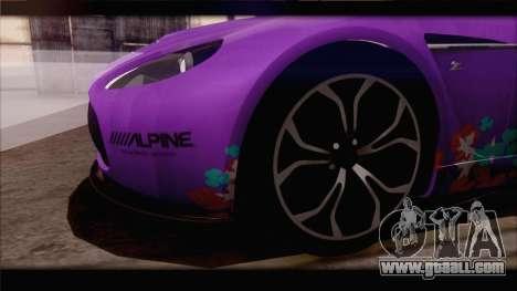 Aston Martin V12 Zagato 2012 [IVF] for GTA San Andreas interior