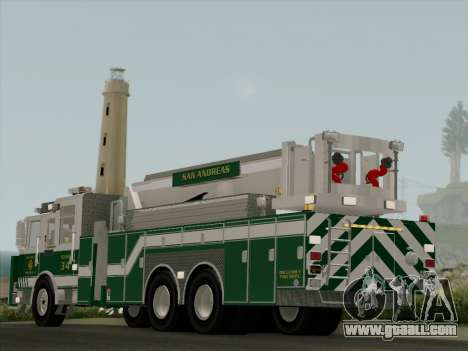 Pierce Arrow Midmount Aerialscope SAFR Tower 34 for GTA San Andreas back left view