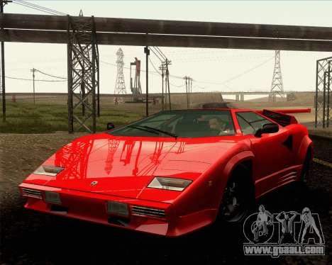 Lamborghini Countach LP500 Quattrovalvole 1988 for GTA San Andreas side view
