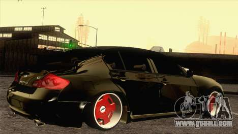 Infiniti G37 for GTA San Andreas left view