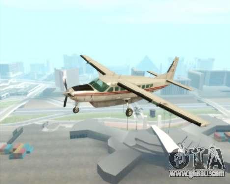 Cessna 208B Grand Caravan for GTA San Andreas inner view