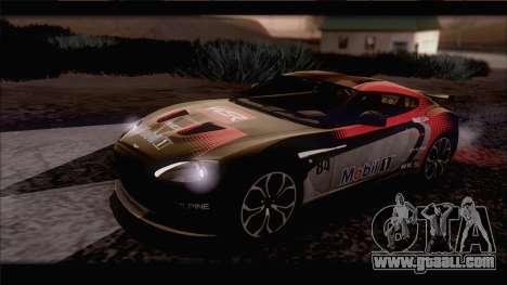 Aston Martin V12 Zagato 2012 [IVF] for GTA San Andreas side view