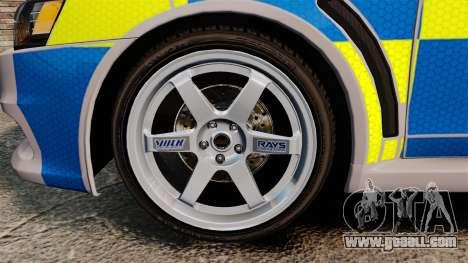 Mitsubishi Lancer Evolution X Police [ELS] for GTA 4 back view