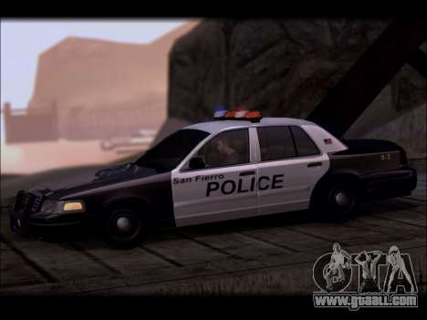 Ford Crown Victoria 2005 Police for GTA San Andreas left view