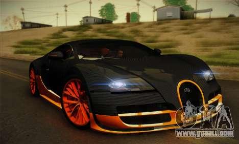 Bugatti Veyron Super Sport World Record Edition for GTA San Andreas left view