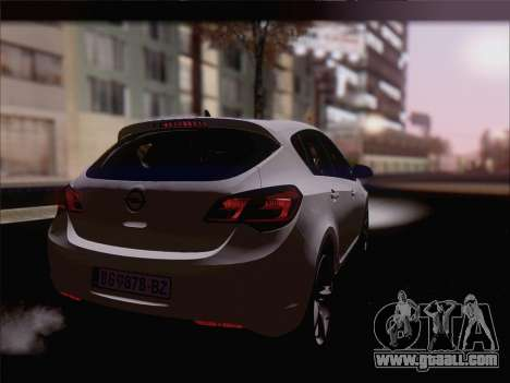 Opel Astra J 2011 for GTA San Andreas left view