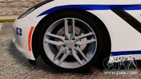 Chevrolet Corvette C7 Stingray 2014 Police for GTA 4 inner view