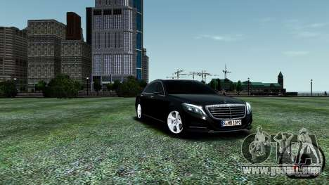 Mercedes-Benz S-Class W222 2014 for GTA 4 upper view