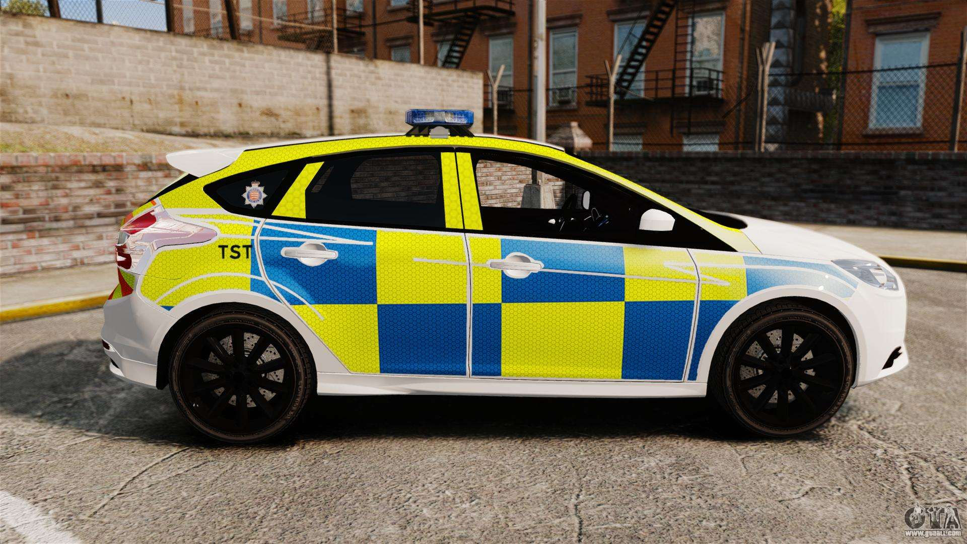 Ford Focus 2013 Uk Police [ELS] for GTA 4 left view
