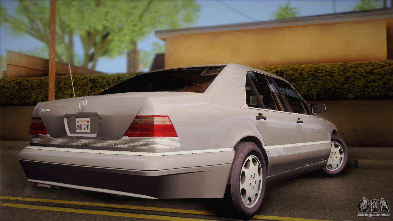 Mercedes benz s600 v12 custom for gta san andreas for S600 mercedes benz
