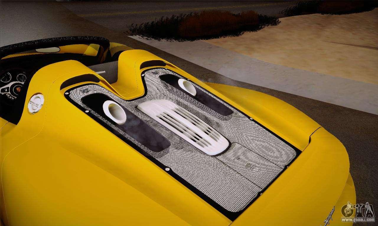 porsche 918 spyder 2014 for gta san andreas. Black Bedroom Furniture Sets. Home Design Ideas
