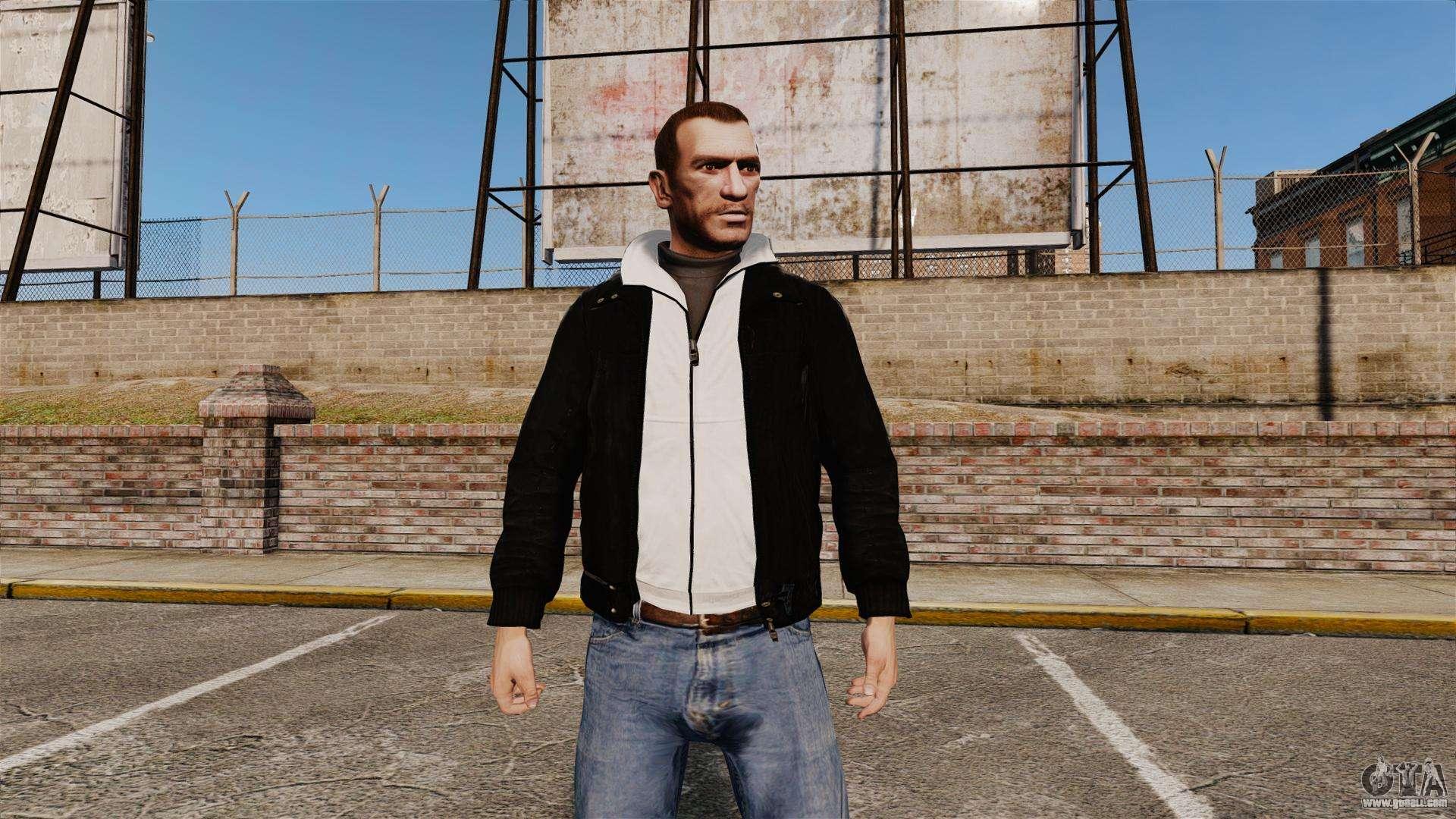 GTA 4 Adidas Black Jacket Mod
