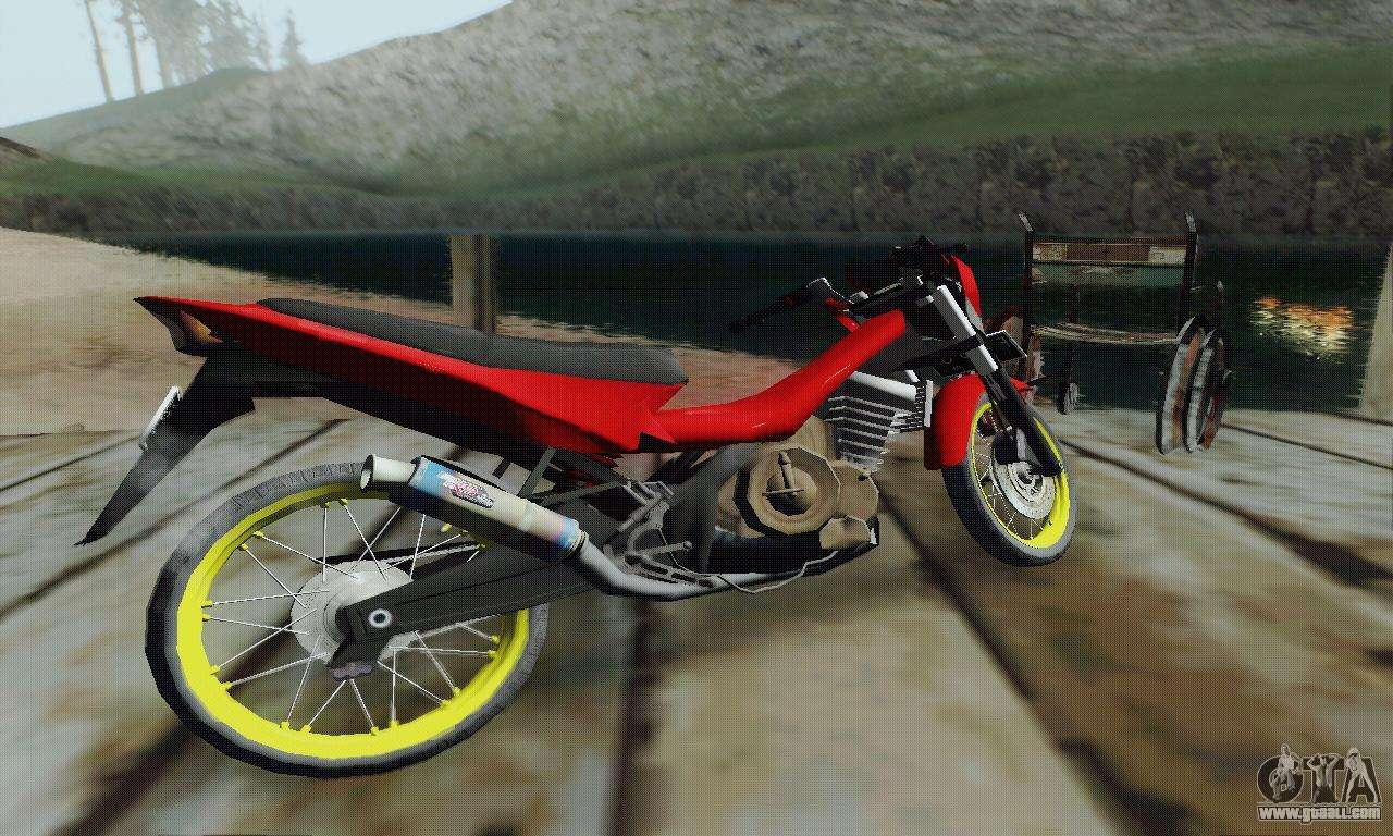 suzuki satria fu 150cc 2011 semi drag for gta san andreas