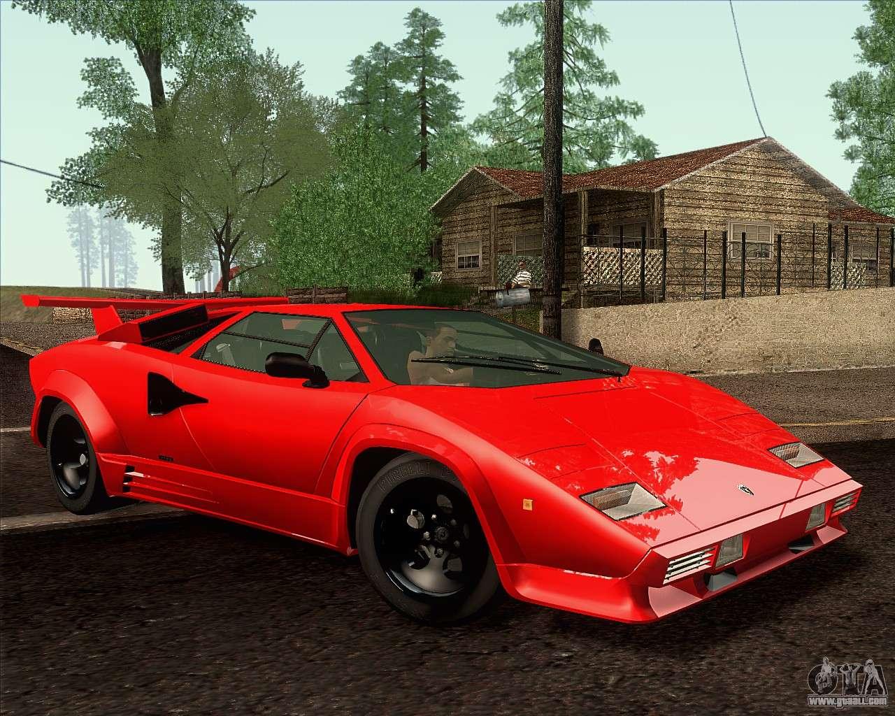 Lamborghini Countach Lp500 Quattrovalvole 1988 For Gta San
