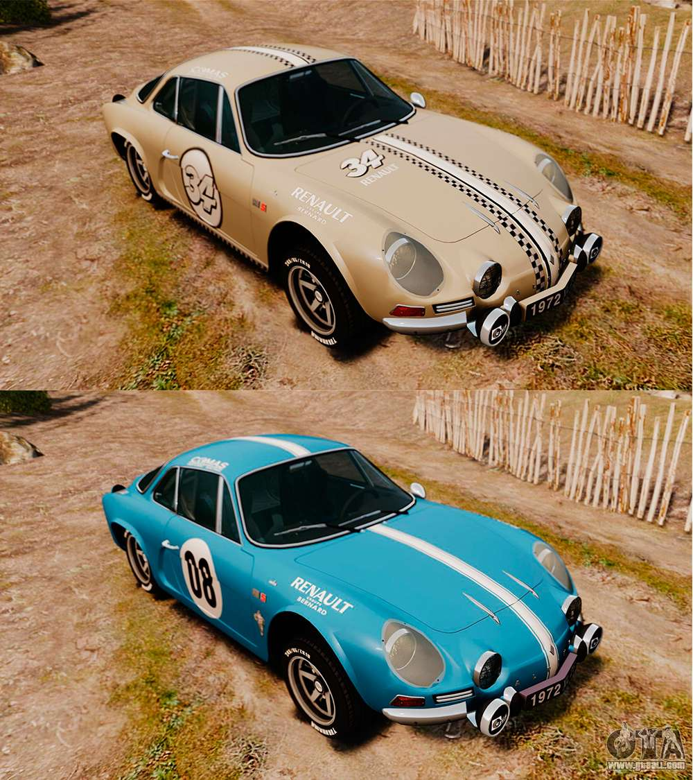 Renault Alpine A110: Renault Alpine A110 1600 S For GTA 4