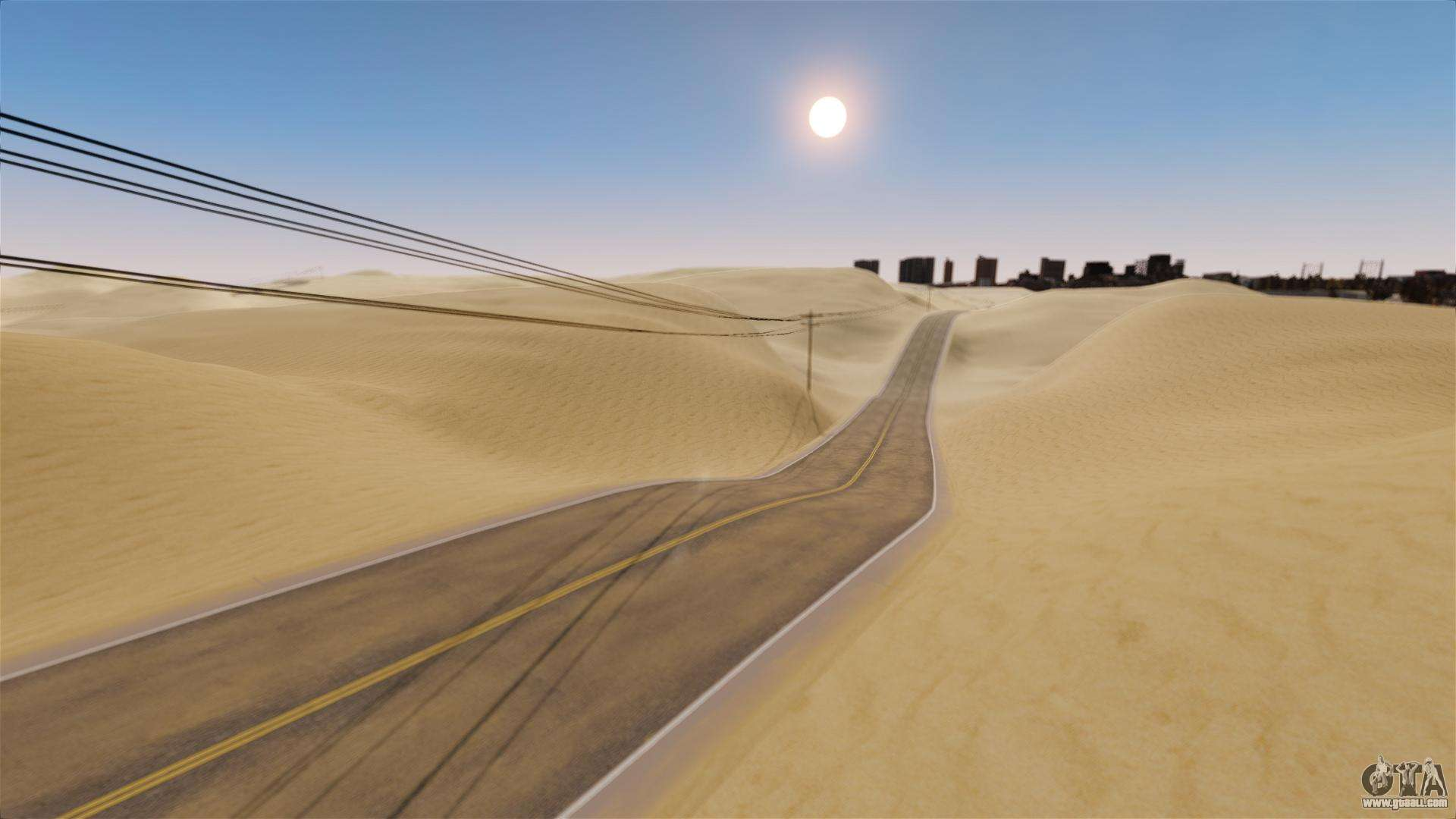 Car Driving In The Desert