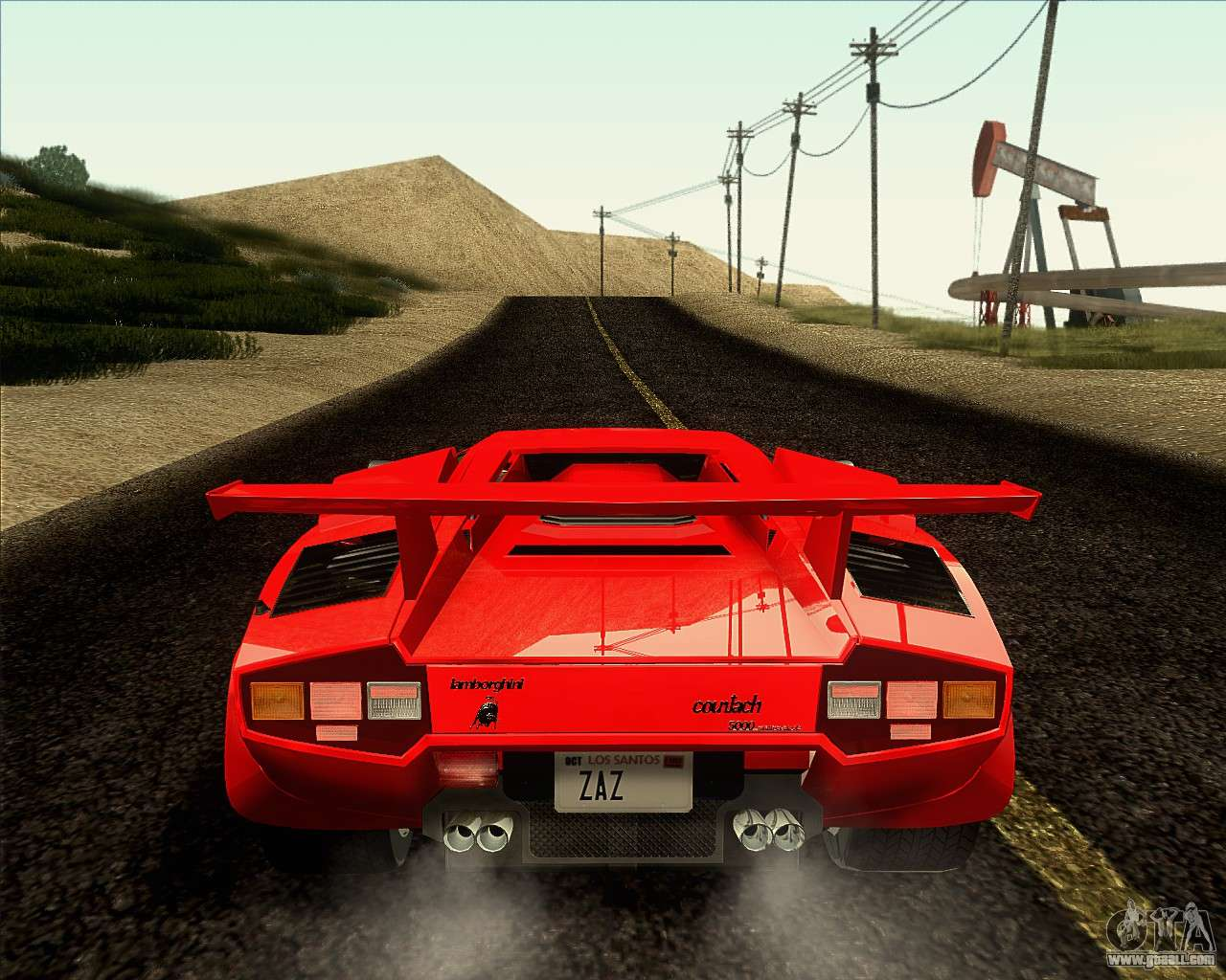 lamborghini countach lp500 quattrovalvole 1988 for gta san