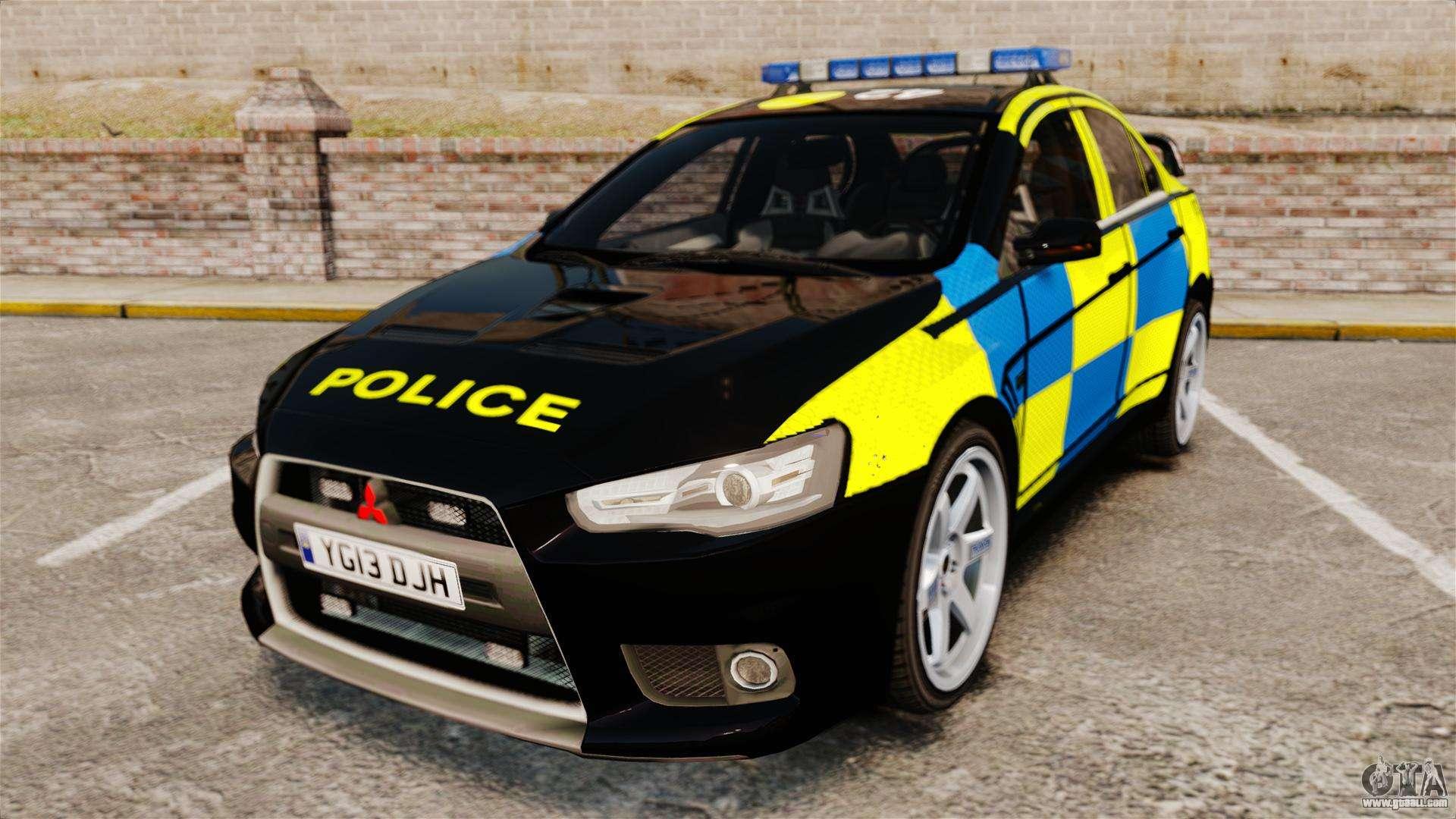 Mitsubishi Lancer Evolution X Uk Police Els For Gta 4