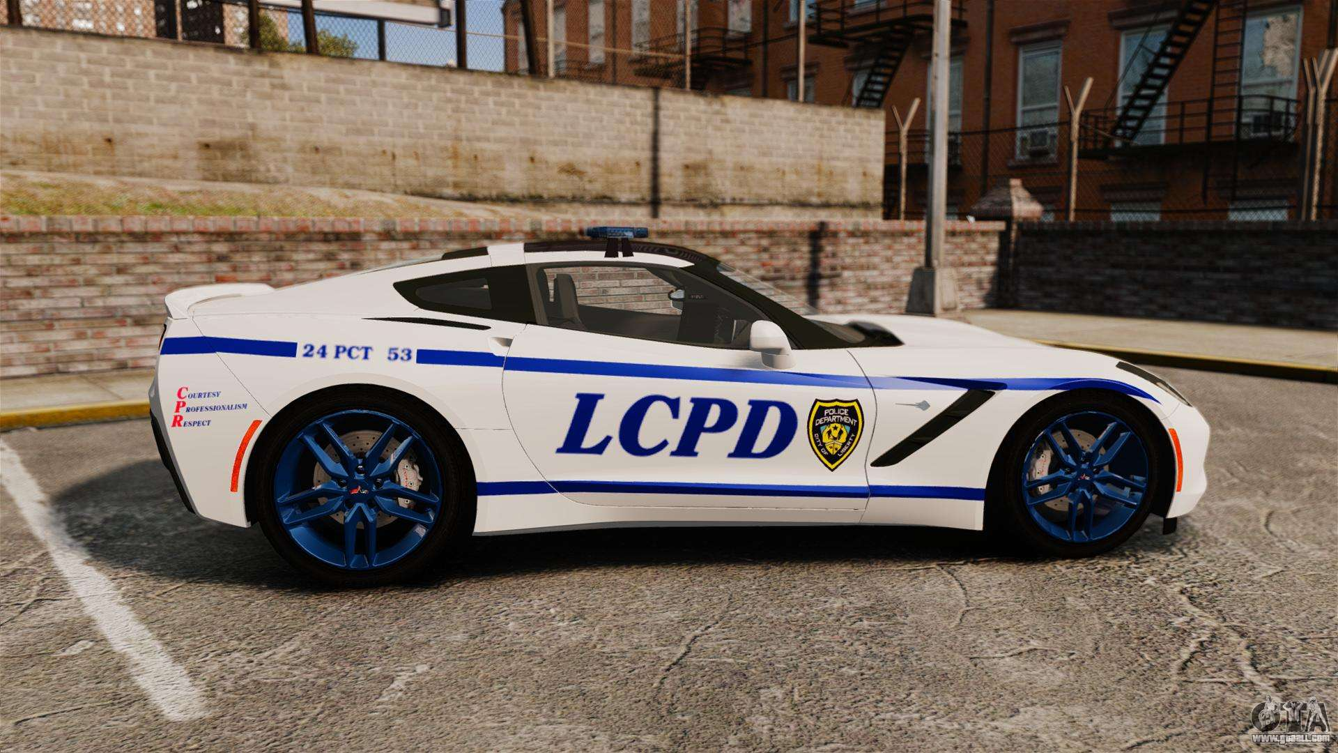 Corvette Police Car: Chevrolet Corvette C7 Stingray 2014 Police For GTA 4