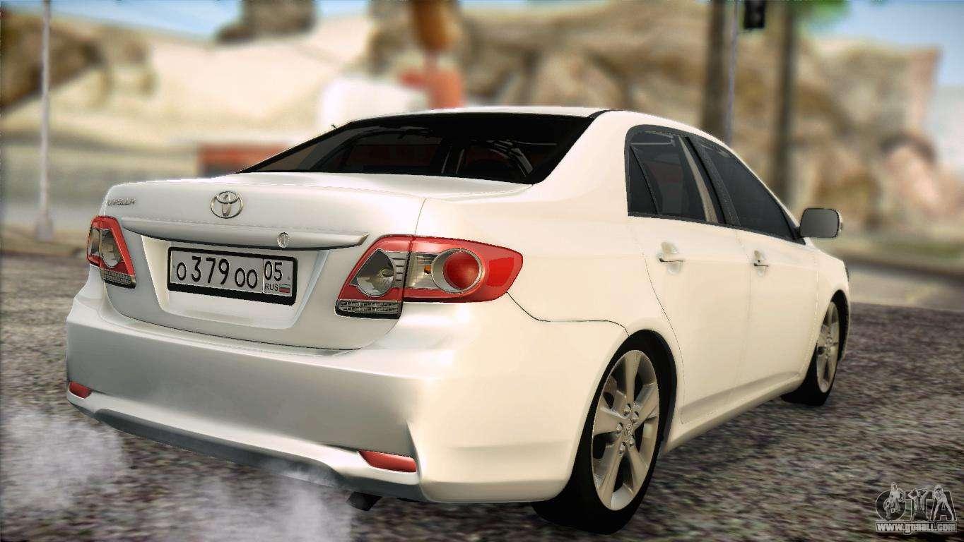 Toyota Corolla 2012 For Gta San Andreas