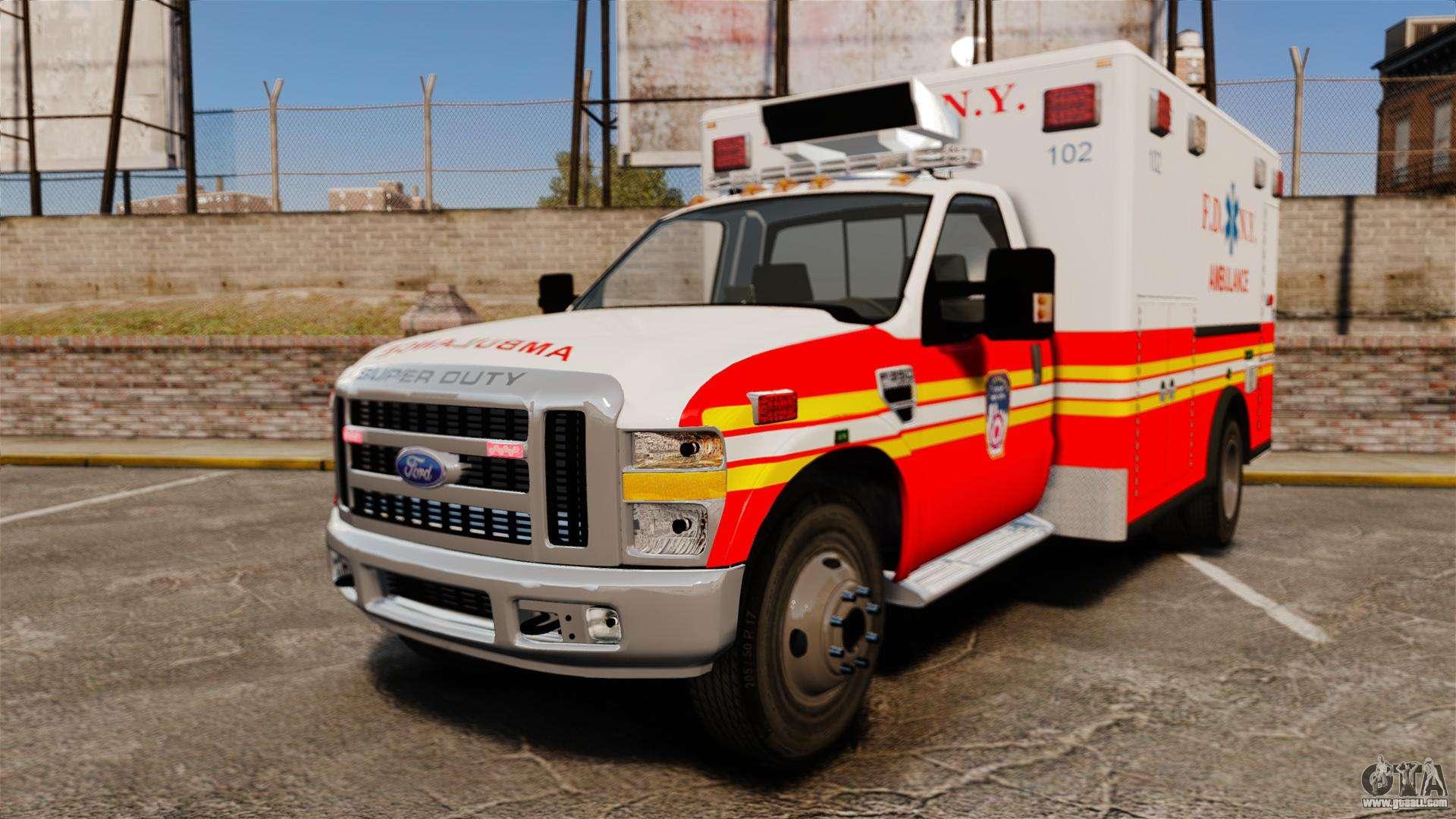 Ford F 350 Fdny Ambulance Els For Gta 4