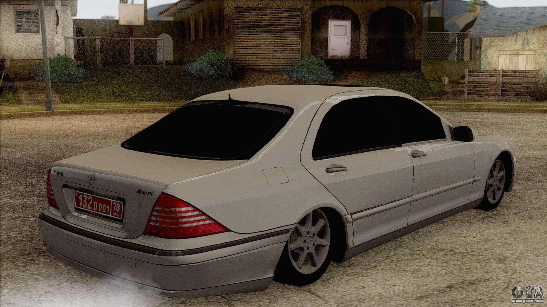 Mercedes benz w220 s500 4matic for gta san andreas for Mercedes benz s500 4matic