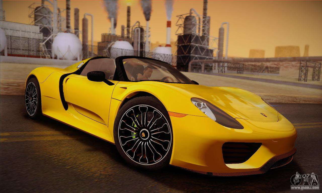 porsche 918 spyder 2014 for gta san andreas. Black Bedroom Furniture Sets. Home Design Ideas