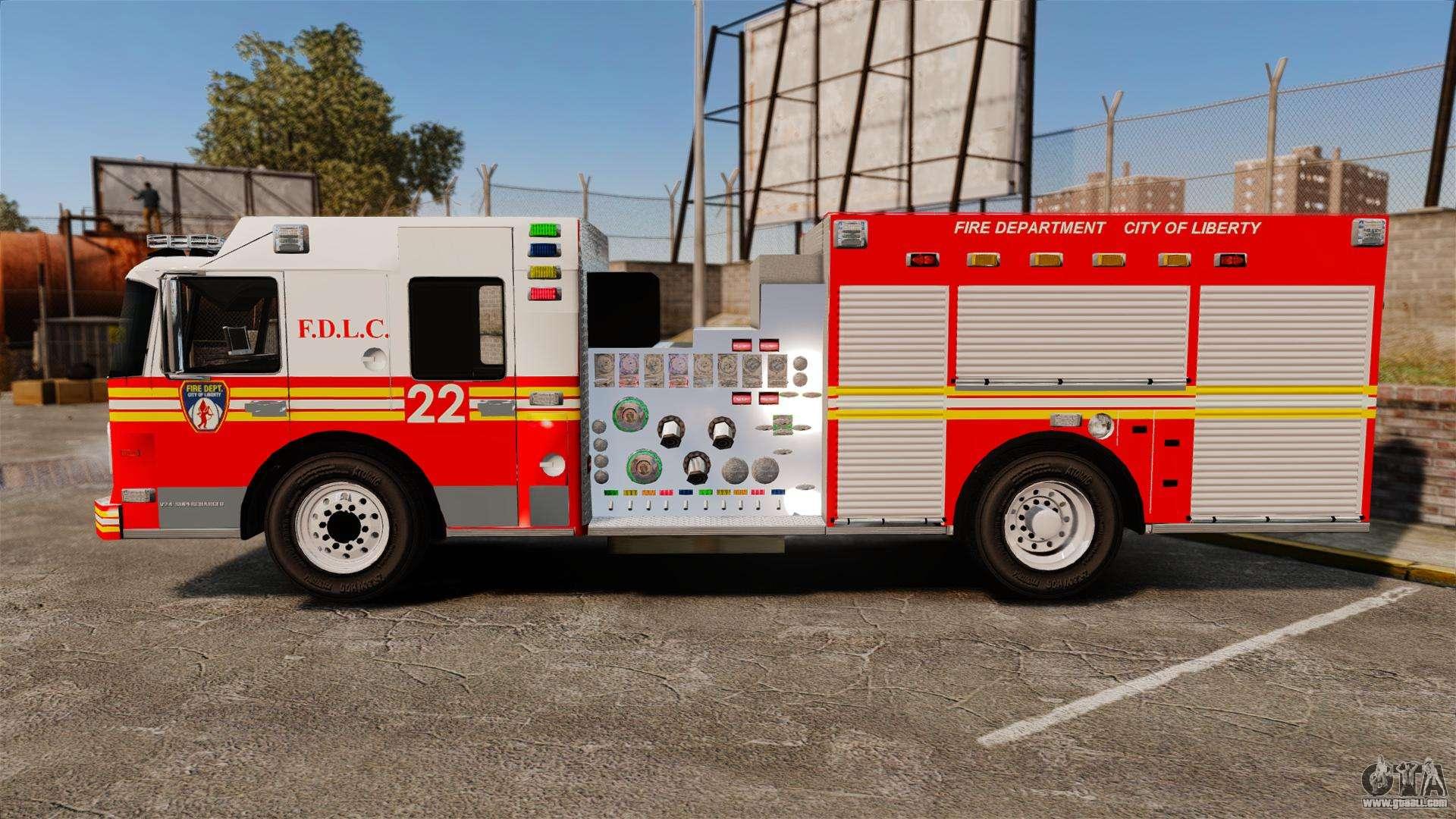 Firetruck FDLC [ELS] for GTA 4 Gta 4 Pc Cars