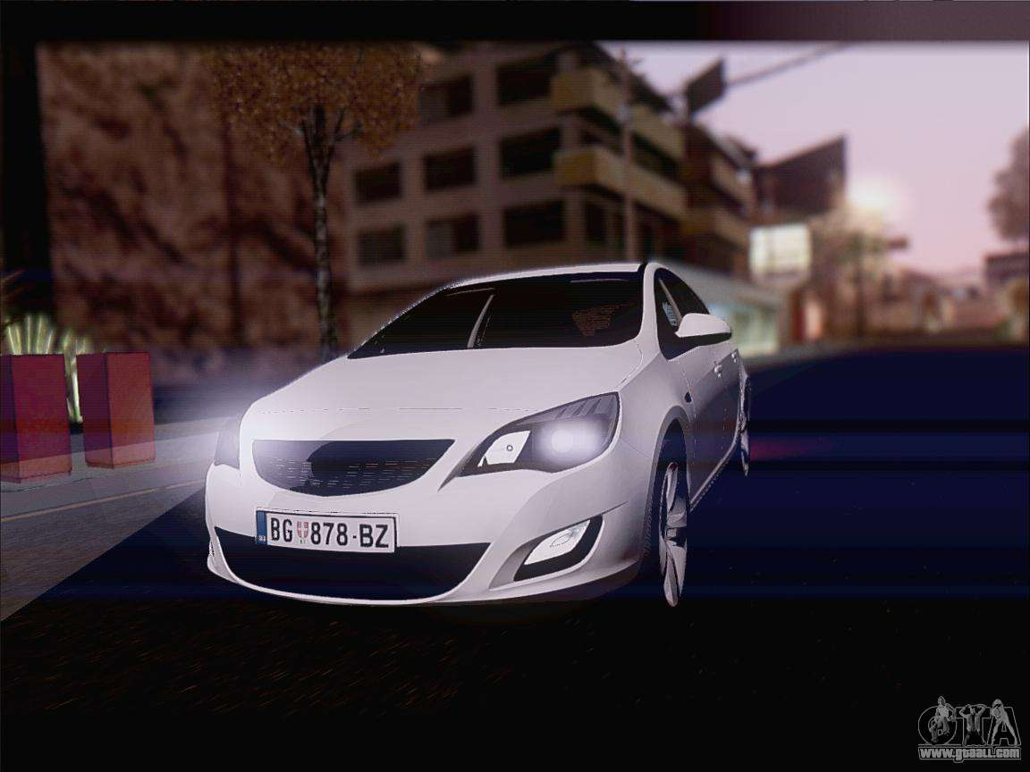 opel astra j 2011 for gta san andreas. Black Bedroom Furniture Sets. Home Design Ideas