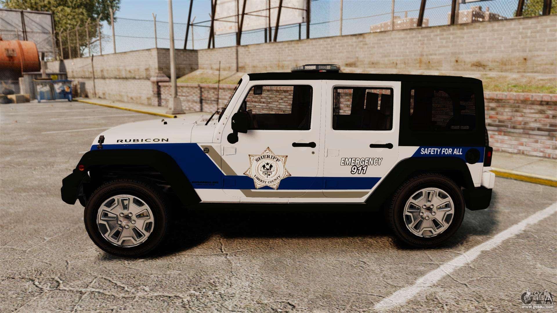 2012 Jeep Wrangler Rubicon Jeep Wrangler Rubicon Police 2013 [ELS] for GTA 4