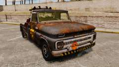 Chevrolet Tow truck rusty Stock