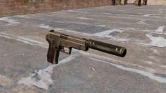 SIG-Sauer P226 pistol with silencer