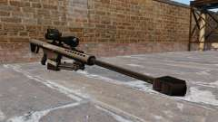 The Barrett M82 sniper rifle 50 Cal
