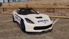 Chevrolet Corvette C7 Stingray 2014 Police for GTA 4