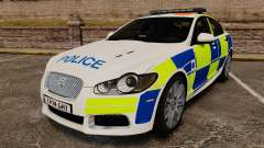 Jaguar XFR 2010 British Police [ELS] for GTA 4