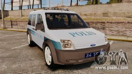 Ford Transit Connect Turkish Police [ELS] for GTA 4