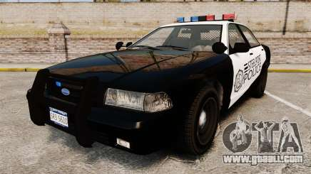 GTA V Vapid Steelport Police Cruiser [ELS] for GTA 4