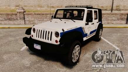 Jeep Wrangler Rubicon Police 2013 [ELS] for GTA 4