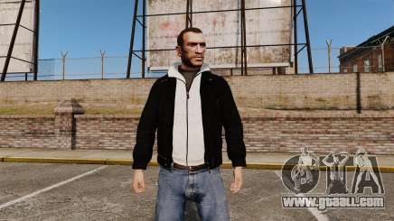 Black leather jacket for GTA 4