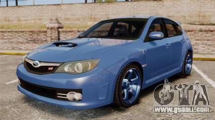 Subaru Impreza 2010 for GTA 4