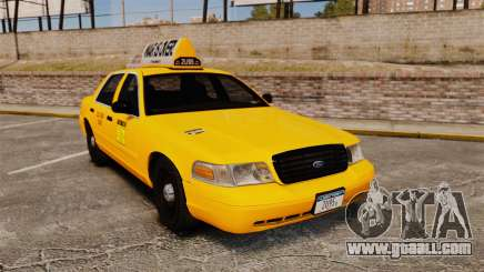 Ford Crown Victoria 1999 LCC Taxi for GTA 4