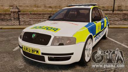 Skoda Superb 2006 Police [ELS] Whelen Justice for GTA 4