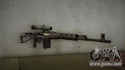 7.62 sniper rifle Dragunov SVD-s for GTA San Andreas